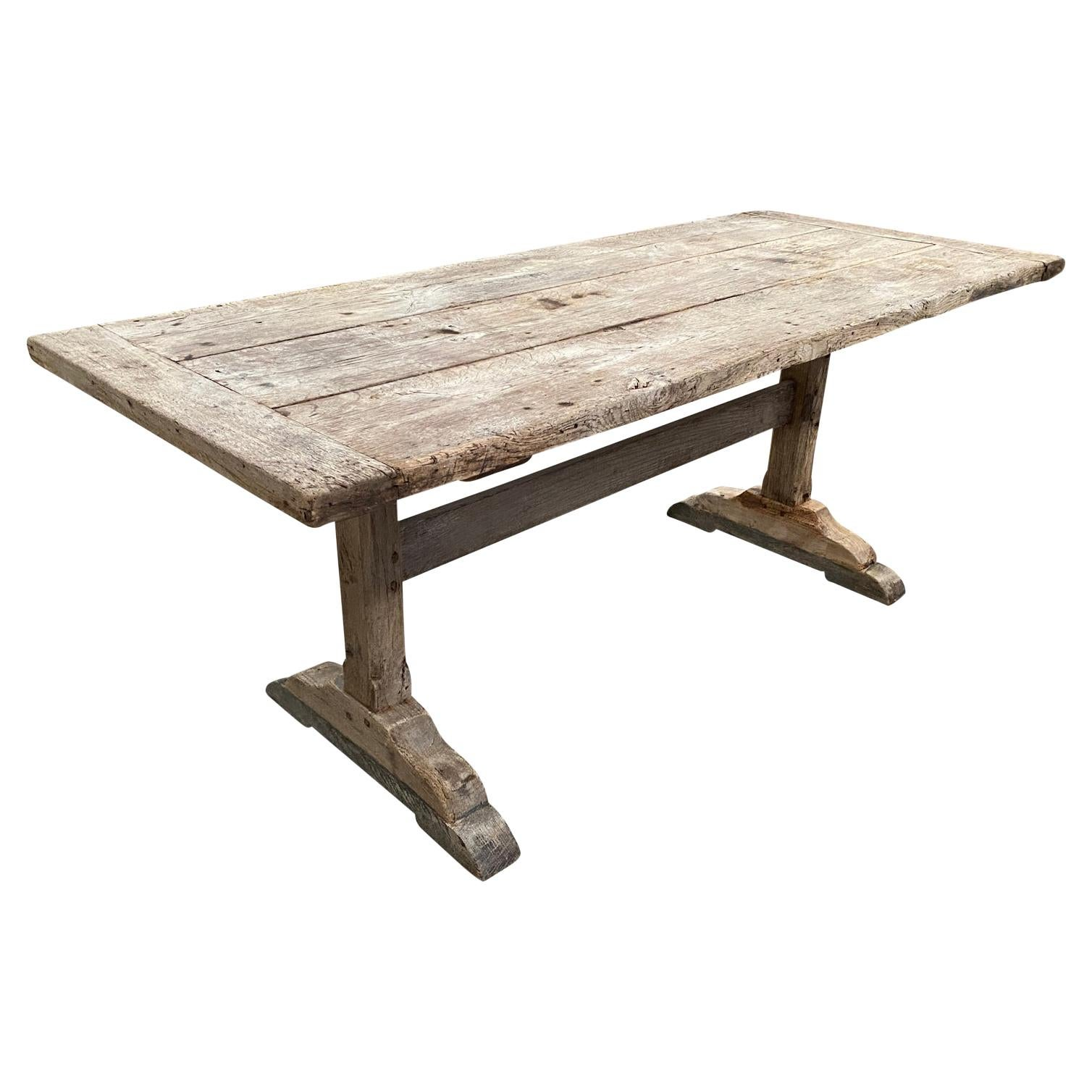 French Mid-19th Century Farm Table