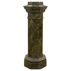 French Mid-19th Century Faux Painted Marble Octagon Shaped Pedestal