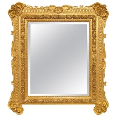 French Mid-19th Century Louis XV Rectangular Giltwood Mirror