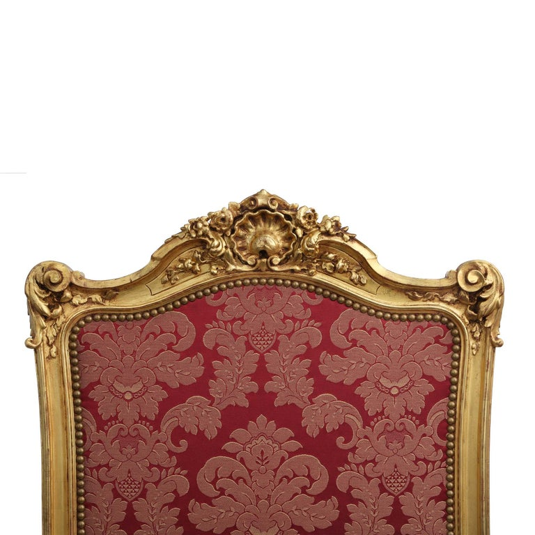 French Mid-19th Century Louis XV Style Giltwood Screen In Excellent Condition For Sale In West Palm Beach, FL