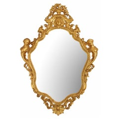 French Mid-19th Century Louis XV Style Giltwood Mirror