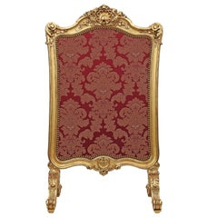 French Mid-19th Century Louis XV Style Giltwood Screen