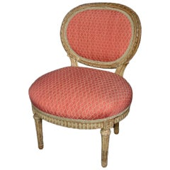 French Mid-19th Century Louis XVI Style Child's Painted Chair
