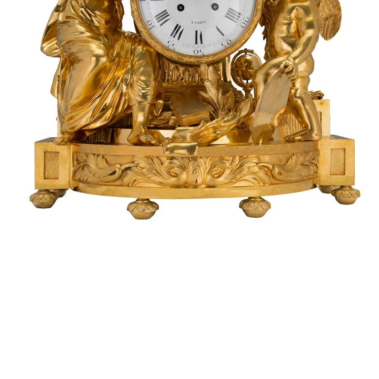 French Mid-19th Century Louis XVI St. Clock in Ormolu Signed 'BEURDELEY À PARIS' For Sale 2