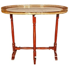 French Mid-19th Century Louis XVI Style Mahogany Gateleg Table