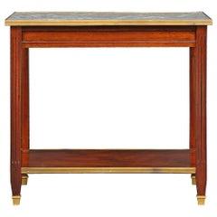 French Mid-19th Century Louis XVI Style Mahogany Low Rectangular Table