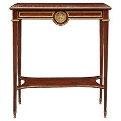 French Mid-19th Century Louis XVI Style Mahogany Rectangular Side Table