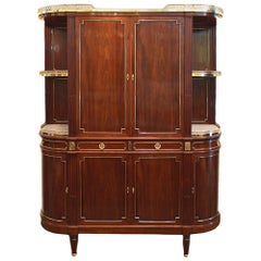 French Mid-19th Century Louis XVI St. Mounted Deux-Corps Cabinet