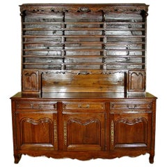 French Mid-19th Century Louis XVI Style Oak 'Vaissellier'