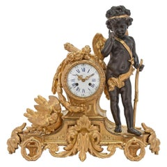 French Mid 19th Century Louis XVI St. Ormolu Clock, by Bardon, Montpellier