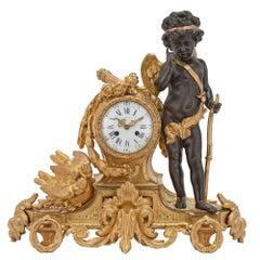 French Mid 19th Century Louis XVI St. Ormolu Clock, by Bardon, Montpellier
