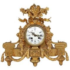 French Mid-19th Century Louis XVI Style Ormolu Clock