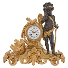 French Mid-19th Century Louis XVI St. Ormolu Clock