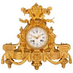 French Mid-19th Century Louis XVI Style Ormolu Clock