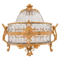French Mid-19th Century Louis XVI Style Baccarat Crystal and Ormolu Coffret
