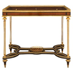 French Mid-19th Century Louis XVI Style Kingwood and Ormolu Display Table