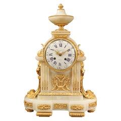 French Mid-19th Century Louis XVI Style Onyx and Ormolu Clock