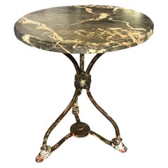 French Mid-19th Century Marble-Top Gueridon