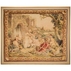 French Mid-19th Century Napoleon III Period Framed Aubusson Tapestry