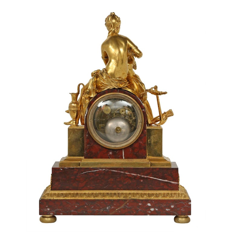 French mid 19th century neo-classical st. garniture set signed Japy Freres For Sale 1