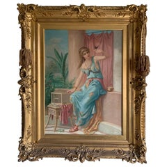 French Mid-19th Century Oil Painting Signed A. Marsaud