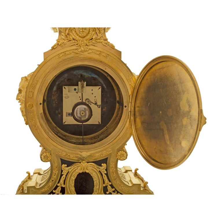French Mid-19th Century Ormolu Three-Piece Garniture Clock Set For Sale 4