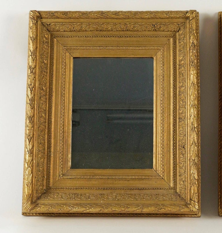 Louis XVI French Mid-19th Century Pair of Giltwood Mirror, circa 1860 For Sale