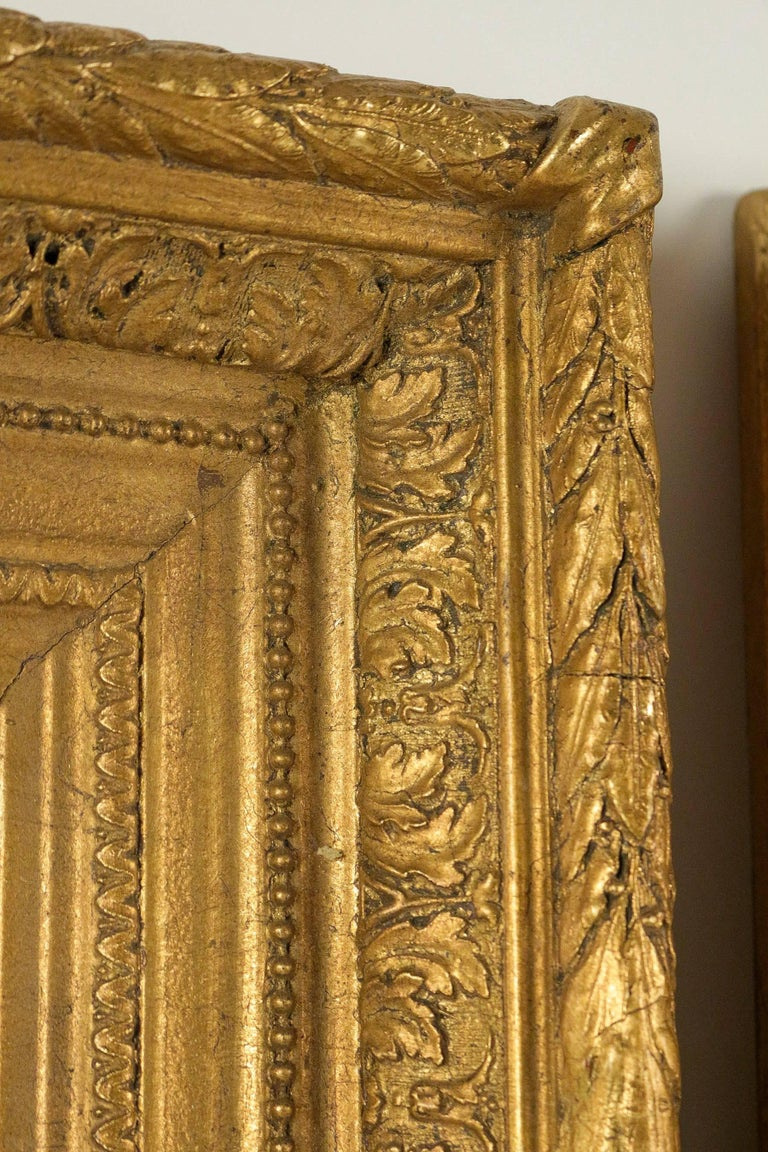 French Mid-19th Century Pair of Giltwood Mirror, circa 1860 In Good Condition For Sale In Saint Ouen, FR