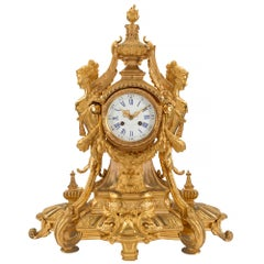 French Mid-19th Century Renaissance Style Ormolu Clock