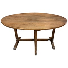 French Mid-19th Century Table Vigneron, Wine Tasting Table