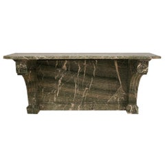 French Mid-19th Century Vert Campan Solid Marble Console