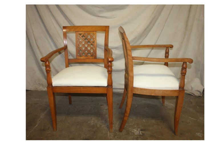 French Mid-20th Century Directoire Style Armchairs In Good Condition For Sale In Atlanta, GA