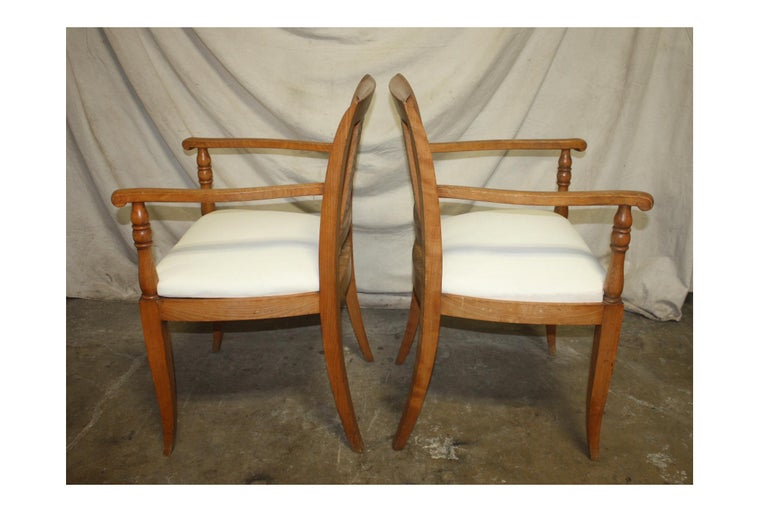 French Mid-20th Century Directoire Style Armchairs For Sale 1
