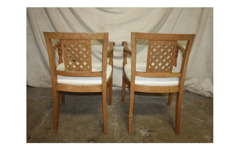 French Mid-20th Century Directoire Style Armchairs For Sale 2