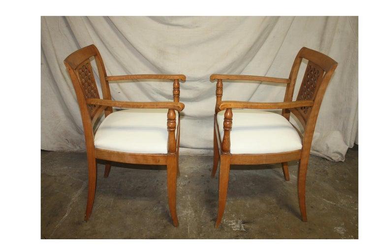French Mid-20th Century Directoire Style Armchairs For Sale 3