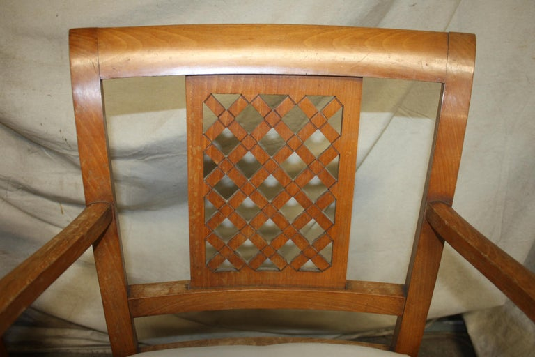 French Mid-20th Century Directoire Style Armchairs For Sale 4
