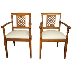 French Mid-20th Century Directoire Style Armchairs