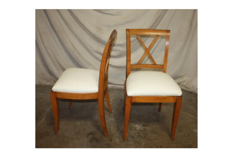 French Mid-20th Century Directoire Style Dining Chairs For Sale 1