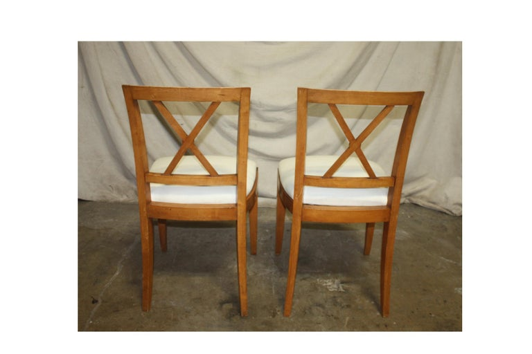 French Mid-20th Century Directoire Style Dining Chairs For Sale 3