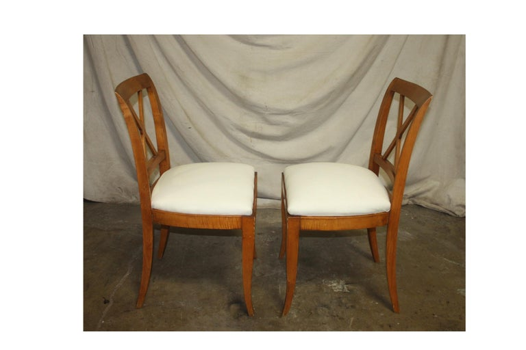 French Mid-20th Century Directoire Style Dining Chairs For Sale 4