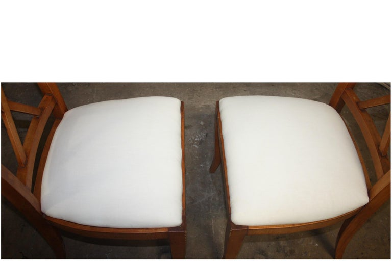 French Mid-20th Century Directoire Style Dining Chairs For Sale 5