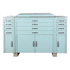 French Mid-20th Century Enamel Multi-Drawer Cabinet