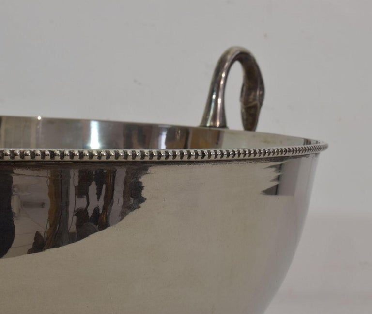 French Mid-20th Century Hollywood Regency Silver Plate Champagne Cooler For Sale 11