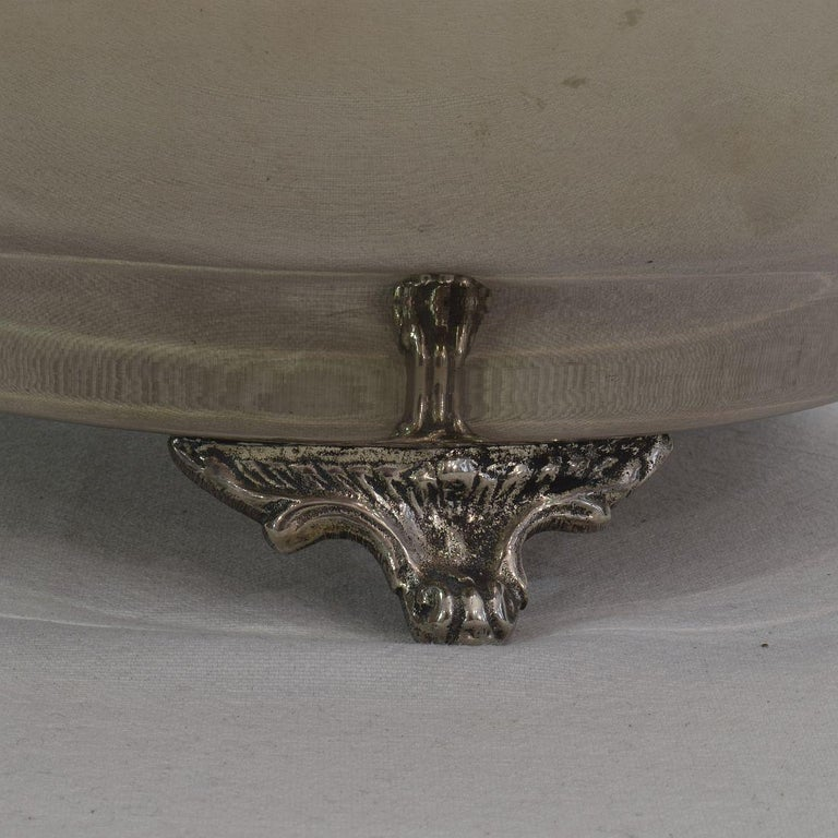 French Mid-20th Century Hollywood Regency Silver Plate Champagne Cooler For Sale 12