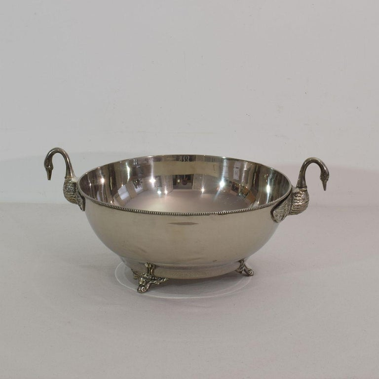 French Mid-20th Century Hollywood Regency Silver Plate Champagne Cooler In Good Condition For Sale In Amsterdam, NL