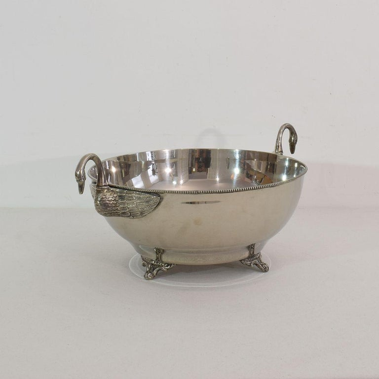 French Mid-20th Century Hollywood Regency Silver Plate Champagne Cooler For Sale 2