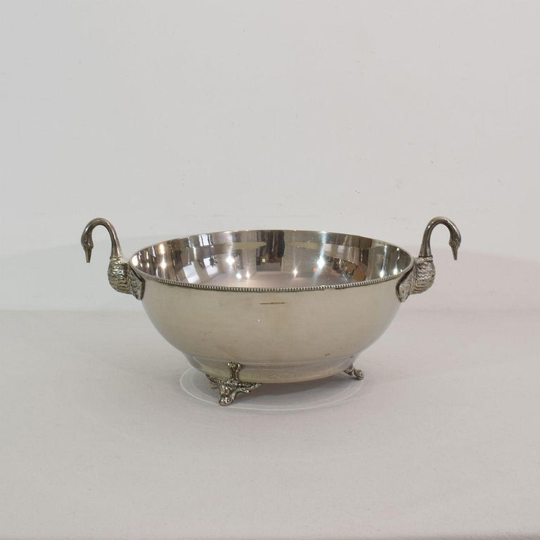 French Mid-20th Century Hollywood Regency Silver Plate Champagne Cooler For Sale 4