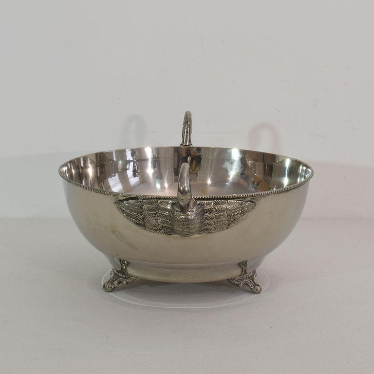 French Mid-20th Century Hollywood Regency Silver Plate Champagne Cooler For Sale 5