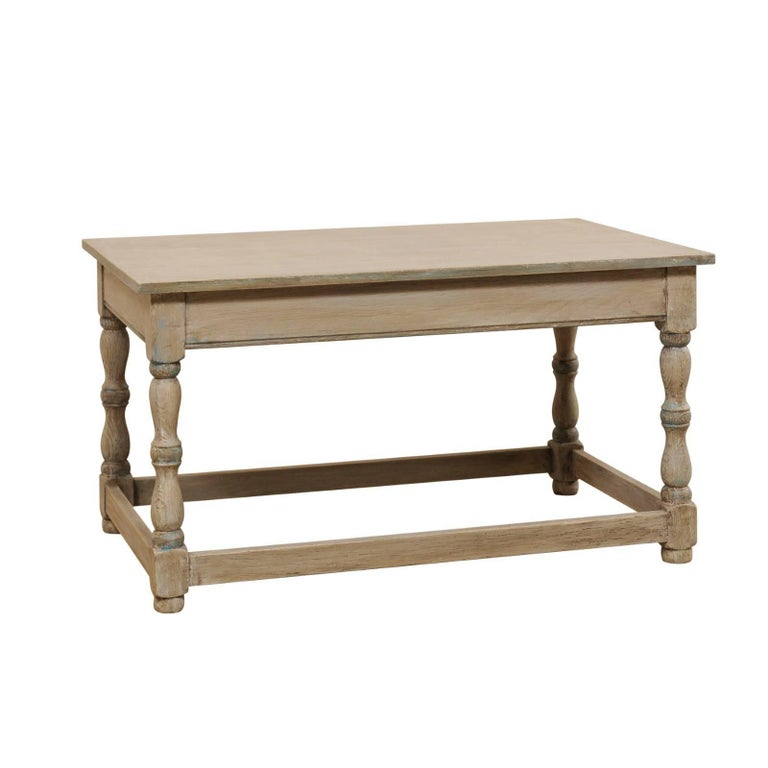 French Mid-20th Century Painted Wood Coffee Table On