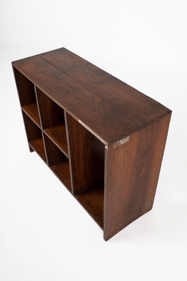 Indian Pierre Jeanneret Pair of Bookcases, Circa 1957 For Sale